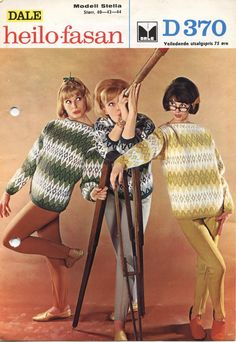 Dale Stella 370 Stirrup Pants, Norwegian Knitting, How To Purl Knit, Vintage Knitting, Color Combinations, Knitting Patterns, Crochet Hats, Retro, Sweaters