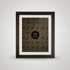 Free printable poster - God/Dog - In frame