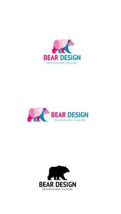 Bear Design Logo @creativework247 Branding Template, Logo Templates, Logo Branding, Branding Design, Logo Design, Logos, Business Inspiration, Logo Inspiration, Bear Logo