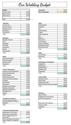 Wedding Budget Spreadsheet, Wedding Planner Checklist, Wedding Planning Timeline, List For Wedding Planning, Wedding Budgeting, Destination Wedding Checklist, Wedding Checklist Detailed, Wedding Reception Checklist, Wedding Planner Cost