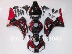344.00$  Buy here - http://alivwm.worldwells.pw/go.php?t=1986671326 - 100%Fit injection red flame black fairing for HONDA CBR 1000RR 06 07 CBR1000 RR 2006 2007 CBR 1000 RR 06 07 fairing parts #0091A