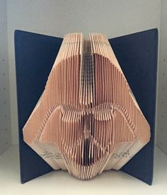 Darth Vader Folded Book Art - Star Wars Gift #starwars #books #darthvader