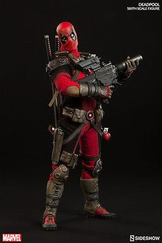 """Sideshow #deadpool action #figure 1/6 12"""" marvel comics #double boxed brown shipp,  View more on the LINK: http://www.zeppy.io/product/gb/2/152045879847/"""