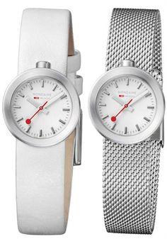 Mondaine Aura White Watch from Watchismo.com