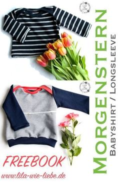 Baby Babyshirt / Longsleeve selbst nähen - kostenlose Anleitung - Freebook How to Buy Used or Surplu Baby Knitting Patterns, Sewing Patterns Free, Free Sewing, Free Pattern, Crochet Patterns, Pattern Sewing, Sewing Projects For Kids, Sewing For Kids, Presents For Girls