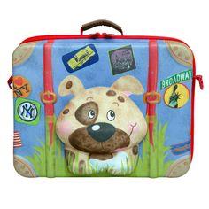 Leuke reiskoffer voor kinderen http://www.hippekinderspullen.nl/onderweg/op-vakantie/okiedog-reiskoffer-hond.html