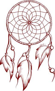 awesome Dream Catcher Tattoo Zeichnung