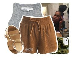 """""""hold up babygirl just listen, this is the last time"""" by lamamig ❤ liked on Polyvore featuring Sans Souci"""