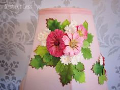 pink flowers lamp shade2