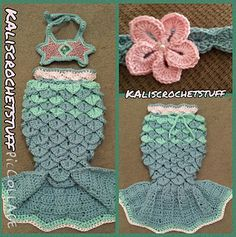 This pattern is very simple and easy to follow. It starts off with a pattern instructions for a NB, but has instructions on how to increase to a bigger size. Sizing chart for NB- Adult is available in the pattern for the tail as well as the Shell headband.