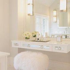 Floating Mirrored Vanity, Contemporary, bathroom, Susan Glick Interiors