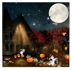 """""""Happy Halloween! :)"""" by asia-12 ❤ liked on Polyvore featuring art and Halloween"""