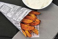 Süßkartoffelpommes, sweet potato fries