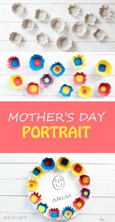 Paper Plate Mother's Day Portrait for Kids to Make