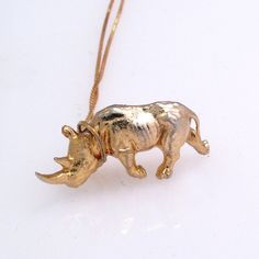 Fab.com | Rhino Necklace Gold-Plated