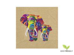 Servítky EKO Elephant Moose Art, Elephant, Logos, Animals, Animales, Animaux, Logo, Elephants, Animal