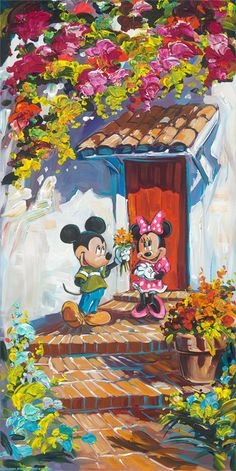 Romance Blossom - by Steve Barton<br>giclee on canvas (lg)
