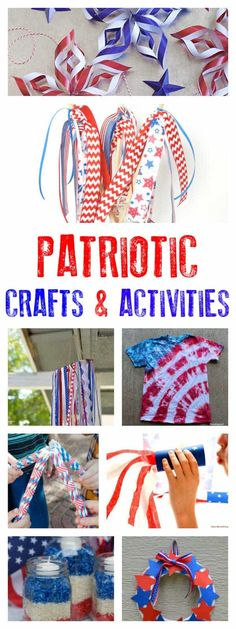 Over 20 different Patriotic crafts and activities for kids that are easy and fun to do. Ideal for July or Memorial Day. Over 20 different Patriotic crafts and activities for kids that are easy and fun to do. Ideal for July or Memorial Day. Memorial Day Activities, Craft Activities For Kids, Summer Activities, Activity Ideas, Holiday Activities, Childcare Activities, Music Activities, Toddler Activities, Preschool Activities