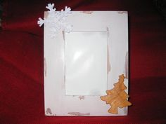 Distressed Off  White Holiday Photo Frame  by TallahatchieDesigns, $16.97