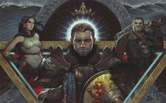 Alistair, Isabela and Varric http://dragonage.wikia.com/wiki/Dragon_Age:_Inquisition?file=EmperessCelene.jpg