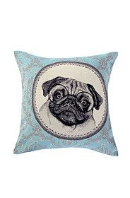 PUG 48X48CM SCATTER CUSHION COVER
