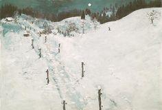 2016, Einsamer Mann in verschneiter Mondnacht Angst, Snow, Iphone, Outdoor, Seasons Of The Year, Switzerland, Sketches, Wallpaper Backgrounds, Landscape