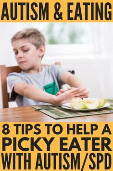 Need tips to get a picky eater with autism, sensory issues and/or other special needs to try new foods? Autism and eating can be extremely challenging and frustrating for parents, and we've got 8 helpful ideas for mom (and dad!) to try to help their kids overcome their rigid autism eating habits and embrace a healthier diet. Whether your child has gastrointestinal discomfort, food texture issues, or other eating challenges as a result of autism and sensory processing disorder, these tips are
