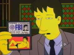 When the X-Files was on the Simpsons. Too funny! Especially with the Mulder speedo! The Simpsons, Simpsons Episodes, Simpsons Quotes, Favorite Tv Shows, My Favorite Things, Dana Scully, David Duchovny, Comic, Fbi Special Agent