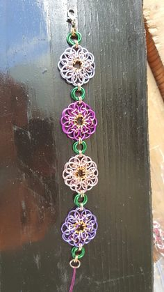 Helm flowers and mobius bracelet