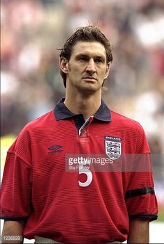 Portrait of Tony Adams of England lining up to face Belgium in the International Friendly at the Stadium of Light in Sunderland England Mandatory...