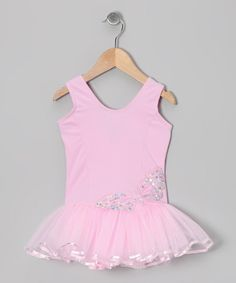 Take a look at this Pink Sequin Butterfly Skirted Leotard - Infant, Toddler & Girls by Seesaws & Slides on #zulily today!