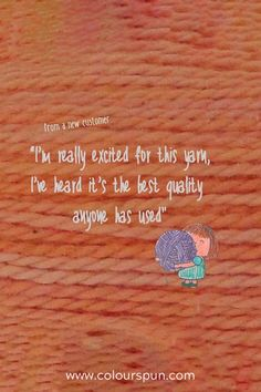 We love happy yarnies!  #yarnlove #yarn #yarnspirations Fabric Yarn, Fabric Design, Weaving, Stitch, Knitting, Happy, Quotes, Quotations, Full Stop