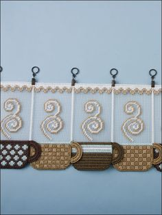 Plastic Canvas - Wall & Door Hanging Patterns - Other Patterns - Coffee Cup Valance