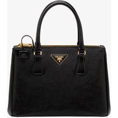 PRADA Tote ($2,120) ❤ liked on Polyvore featuring bags, handbags, tote bags, purses, totes, black, women, zip tote, black tote and zipper purse