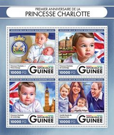 GU16417a First anniversary of Princess Charlotte (Princess Charlotte and Prince George; Princess Charlotte of Cambridge; British Royal Family, Prince George, Princess Charlotte, Kate Middleton, Prince William)