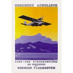 Buyenlarge 'Bodensee Aerolloyd Flying Boat Tours' by Marcel Dornier Vintage Advertisement Size: