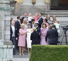 From left, front row: Erik Hellqvist, Marie Hellqvist, Princess Sofia with…
