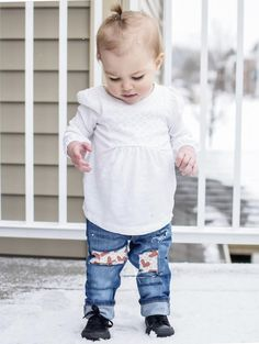Heartbreak Hotel Jeans, Casual Baby Girl Outfit, SO cute!!