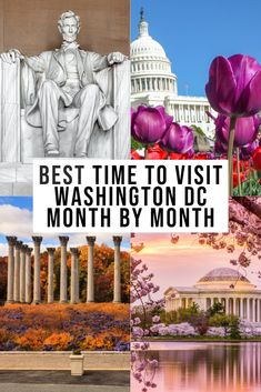 Looking for the best time to visit Washington DC? This month by month breakdown can heklp you plan your best trip to the District. Usa Travel Guide, Travel Usa, Travel Advice, Travel Guides, Travel Tips, Travel Abroad, Budget Travel, Cool Places To Visit, Places To Travel