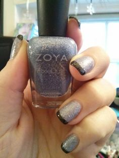 #FrenchManicure with #Zoya #NailPolish in Nyx (base) and Dahlia (tips) from the #PixieDust Collection! Shared via Facebook.
