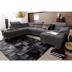 canap d 39 angle convertible mister coloris gris noir vente de canap d 39 angle conforama. Black Bedroom Furniture Sets. Home Design Ideas