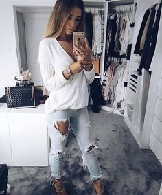 Cute Outfits For School, Cute Fall Outfits, Spring Outfits, Winter Outfits, Weekend Wear, Winter Looks, Winter Wardrobe, Casual Chic, Jeans And Boots