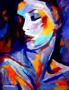 Expressionist Woman. arcrylic on canvas
