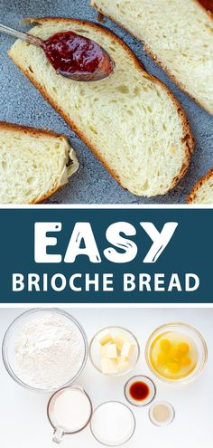 Easy homemade brioche bread, the perfect bread for french toast or just to have with tea or coffee. How To Make Bread, Food To Make, French Bread French Toast, Homemade Brioche, Homemade Detergent, Brioche Bread, Dry Yeast, Dough Recipe, Baking Recipes