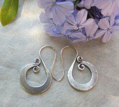 Silver earrings. Silver jewelry. Ethnic by CaliuEthnicJewellery