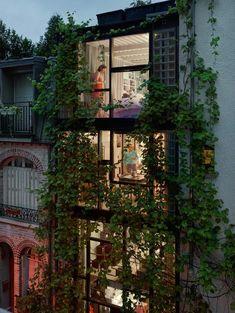 Villa arrondissement, Paris, 2013 / by Gail Albert Halaban - Photography, Landscape photography, Photography tips Parisian Architecture, Architecture Design, Interior Exterior, Exterior Design, Dream Apartment, Parisian Apartment, Retro Apartment, Apartment Plants, Industrial Apartment