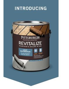 Pittsburgh Paints And Stains Revitalize Light Restoration Resurfacer Sealant In One Is A