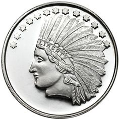 Buy 1 oz SilverTowne Indian Head Silver Rounds (.999) - Silver.com