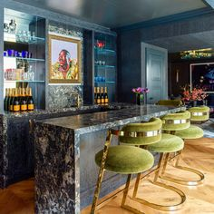 Bar and Game Room in Kips Bay Decorator Show House - 2018 by BA Torrey on Kips Bay Showhouse, Home Bar Rooms, Architecture Restaurant, Framed Tv, Interior Decorating, Interior Design, Architectural Digest, Bars For Home, My Room