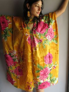 Cozy Front Buttoned Short Kaftan Style made From E8 Fabric Pattern